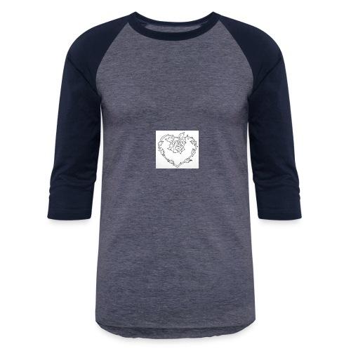 rose heart - Baseball T-Shirt