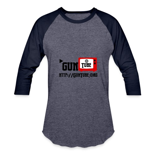GunTube Shirt with URL - Baseball T-Shirt