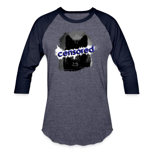 Wolf censored - Baseball T-Shirt