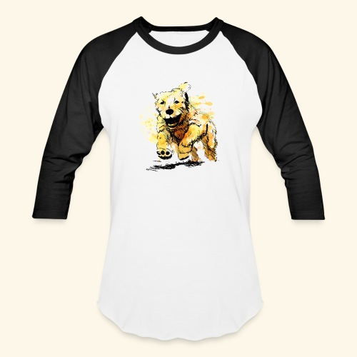 oil dog - Baseball T-Shirt