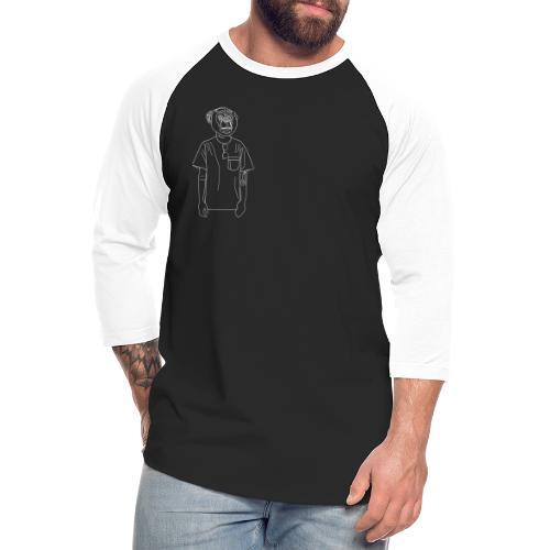 Hipster Monkey - Unisex Baseball T-Shirt