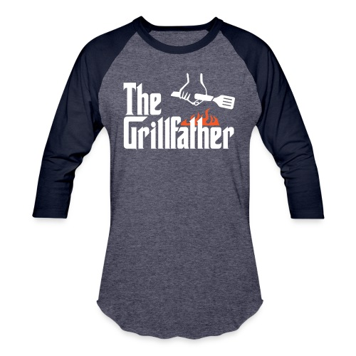 The Grillfather - Baseball T-Shirt