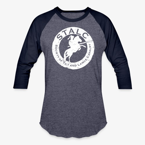 STALC Retro Logo WHITE - Baseball T-Shirt
