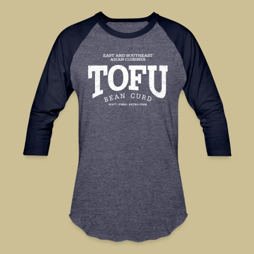 Tofu (white oldstyle) - Unisex Baseball T-Shirt