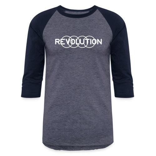 White Revolution Logo - Unisex Baseball T-Shirt