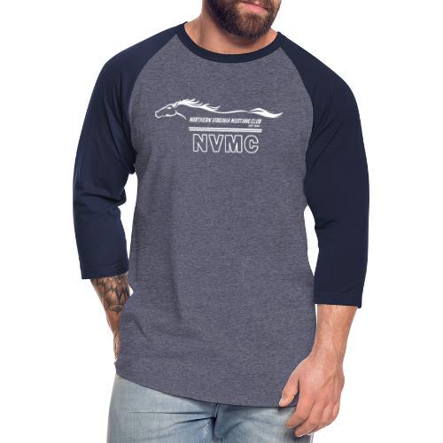 White logo - Unisex Baseball T-Shirt