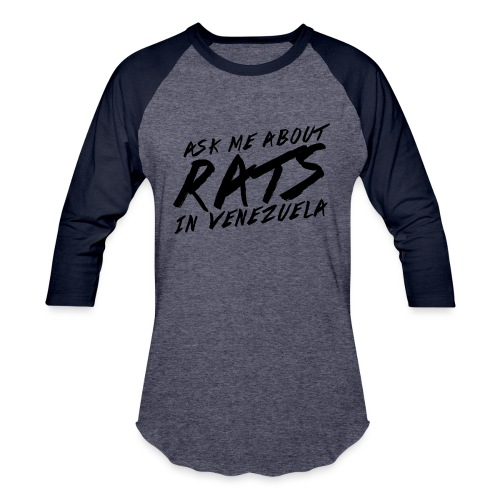 ask me about rats - Unisex Baseball T-Shirt