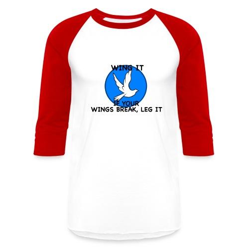 Wing it - Unisex Baseball T-Shirt