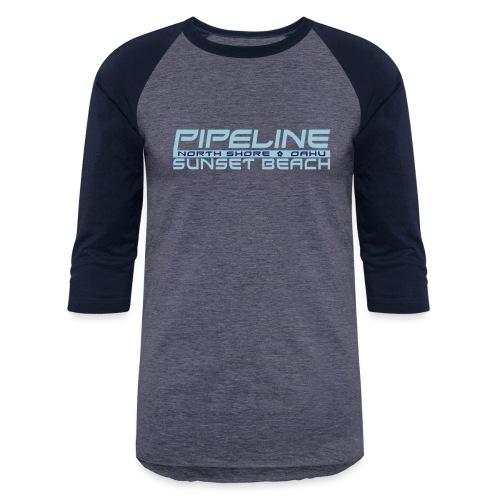 Pipeline Sunset Beach - North Shore, Oahu, Hawaii - Baseball T-Shirt