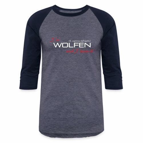 Wolfen Atitude on Dark - Unisex Baseball T-Shirt