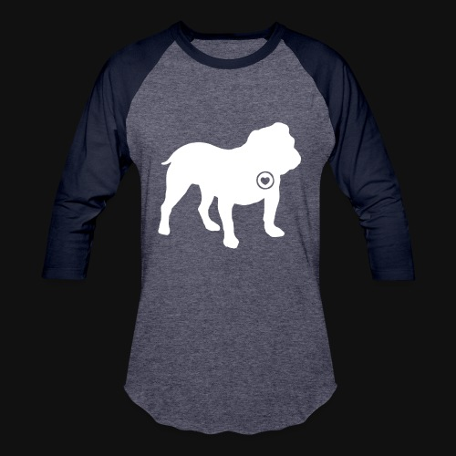 Bulldog love - Baseball T-Shirt