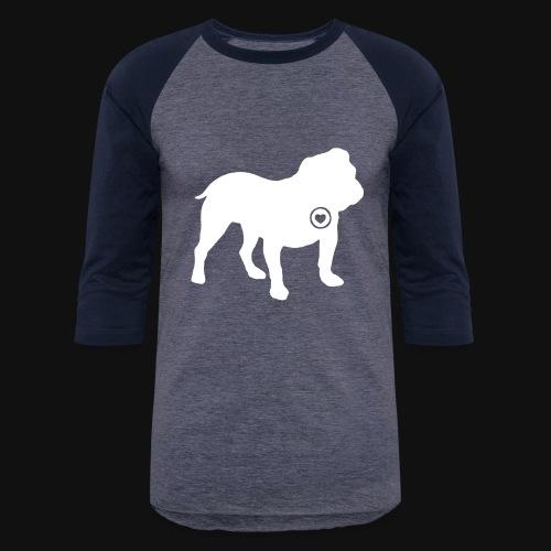 Bulldog love - Unisex Baseball T-Shirt