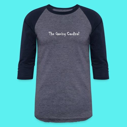 white logo text - Baseball T-Shirt