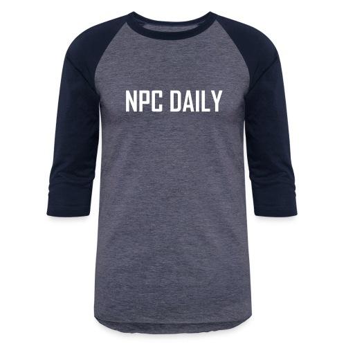 N P C Daily Full Logo - Unisex Baseball T-Shirt
