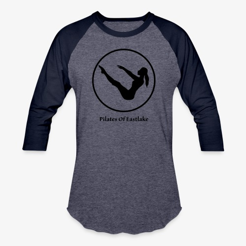 Pilates Of Eastlake Logo - Unisex Baseball T-Shirt