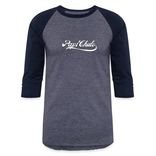 'Papi Chulo' Coca Cola Inspired Typography - Unisex Baseball T-Shirt
