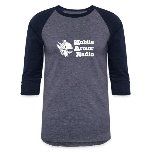 MAR1 White - Unisex Baseball T-Shirt