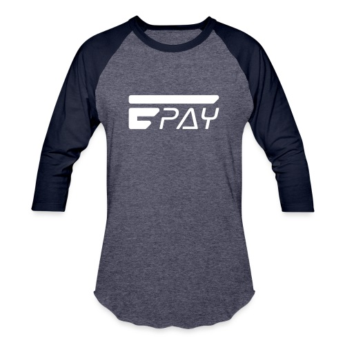 EUNOPAY LOGO WHITE - Unisex Baseball T-Shirt