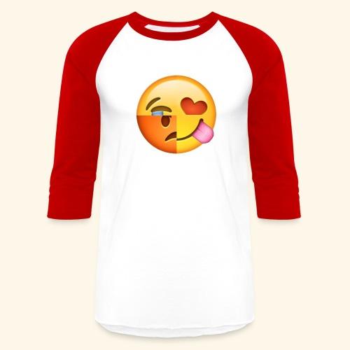 E Tees , Unique , Love , Cry, angry - Baseball T-Shirt