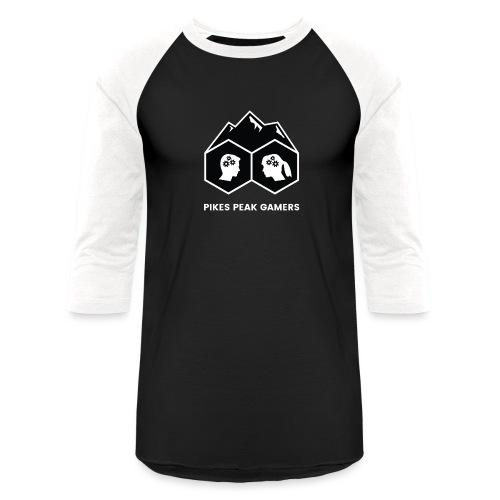 Pikes Peak Gamers Logo (Solid Black) - Baseball T-Shirt