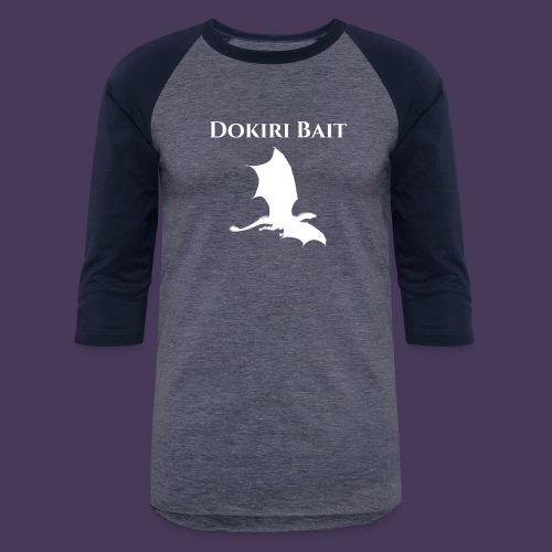 Dokiri Bait White - Unisex Baseball T-Shirt