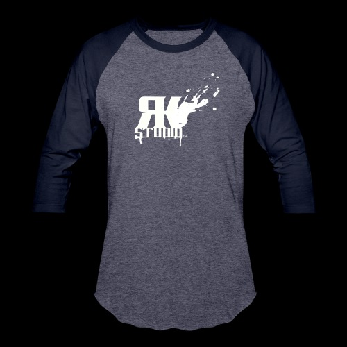 RKStudio White Logo Version - Baseball T-Shirt