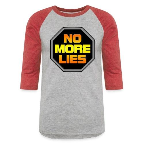 stopp no more lies - Unisex Baseball T-Shirt