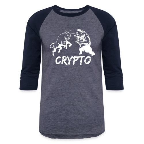 CryptoBattle White - Baseball T-Shirt