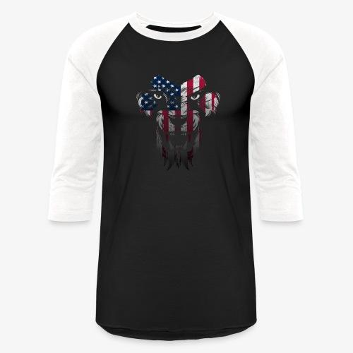 American Flag Lion Shirt - Baseball T-Shirt