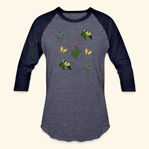 vintage bloom Botanical Design - Baseball T-Shirt