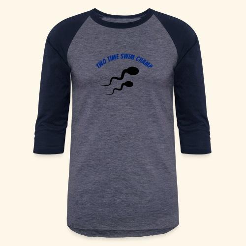 Adult Fathers day swim champ - Baseball T-Shirt