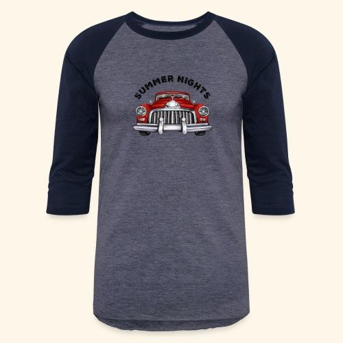 car show summer nights Design - Baseball T-Shirt