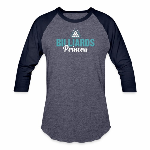 BILLIARDS PRINCESS - Baseball T-Shirt