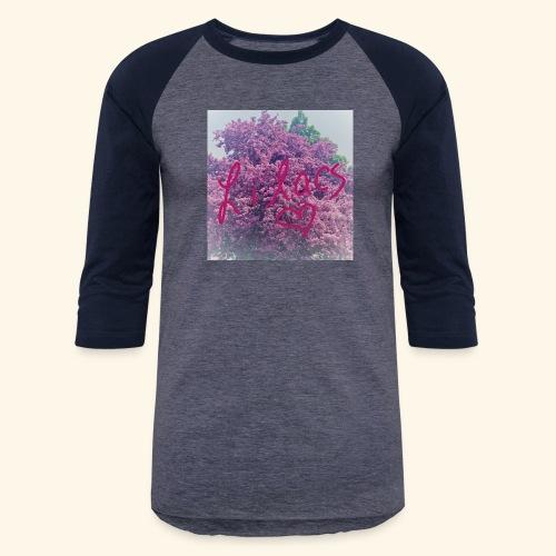I love Lilacs - Unisex Baseball T-Shirt