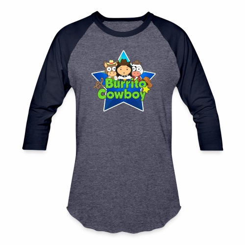 El Burrito Cowboy Star - Unisex Baseball T-Shirt
