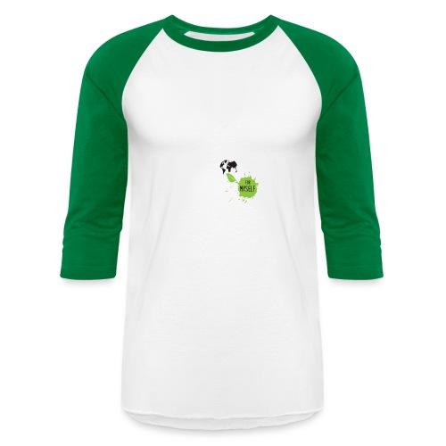 unapologetic VEGAN - Unisex Baseball T-Shirt