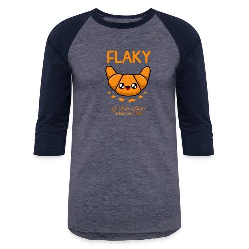 Flaky Croissant - Unisex Baseball T-Shirt