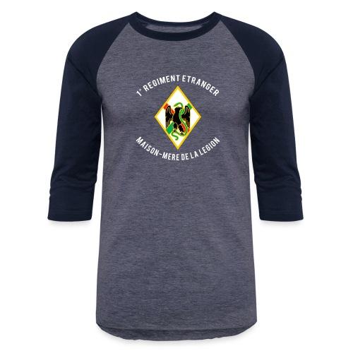 1RE - Regiment Etranger - Badge - Baseball T-Shirt