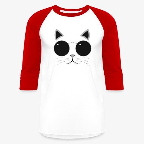 Hipster Cat T-Shirt - Baseball T-Shirt