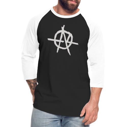 Anarchy (Grey) - Unisex Baseball T-Shirt