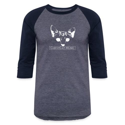 CHEVYCAT (White Logo) - Unisex Baseball T-Shirt