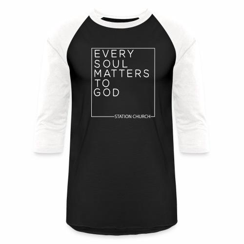 ESMTG White - Unisex Baseball T-Shirt