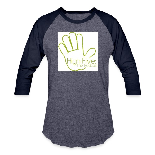 High Five Logo - Unisex Baseball T-Shirt