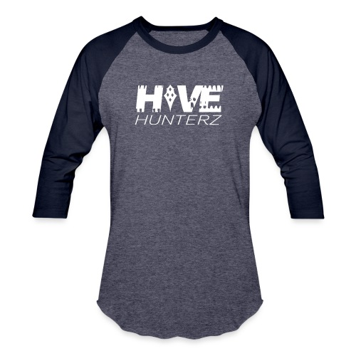 White Hive Hunterz Logo - Unisex Baseball T-Shirt