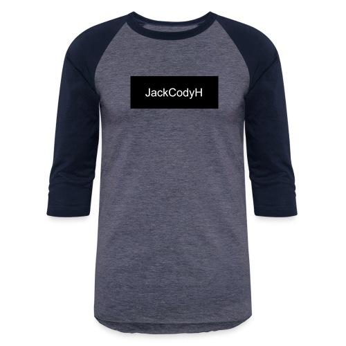 JackCodyH black design - Unisex Baseball T-Shirt