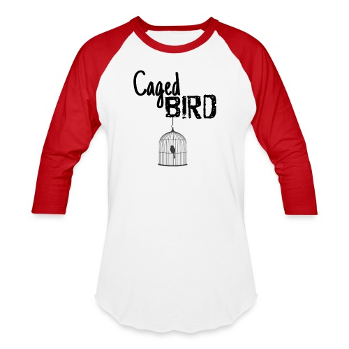 Caged Bird Abstract Design - Baseball T-Shirt