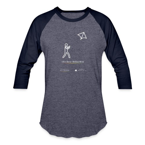 Life's better without wires: Kite - SELF - Baseball T-Shirt