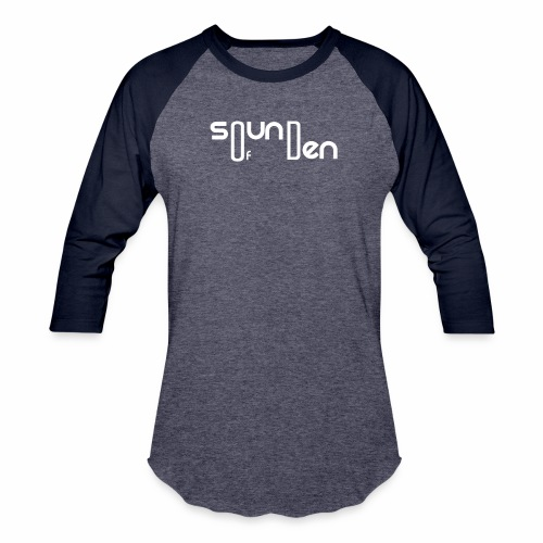 Soundofden The white classical Logo - Unisex Baseball T-Shirt