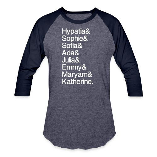 Women in Mathematics (no space before &) - Baseball T-Shirt