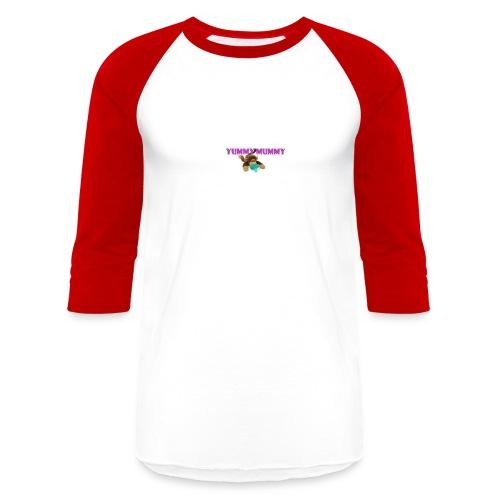 YUMMY MUMMY - Unisex Baseball T-Shirt